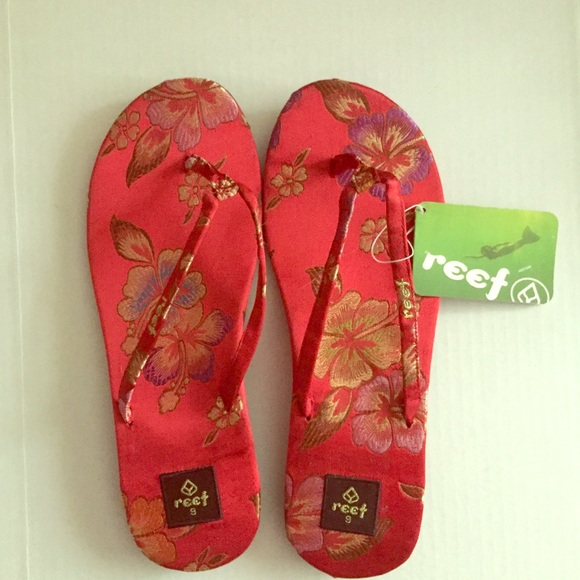 bbcde079f26 Reef Red Zen Flip Flop Womens 9 NWT